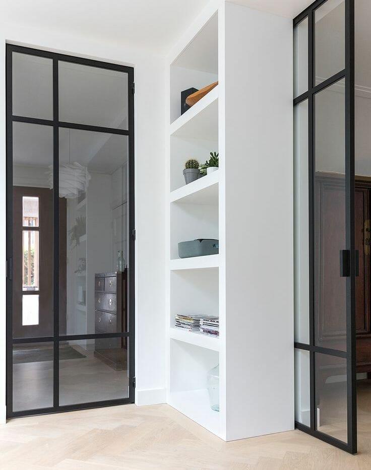 black steel windows and doors internal dividers